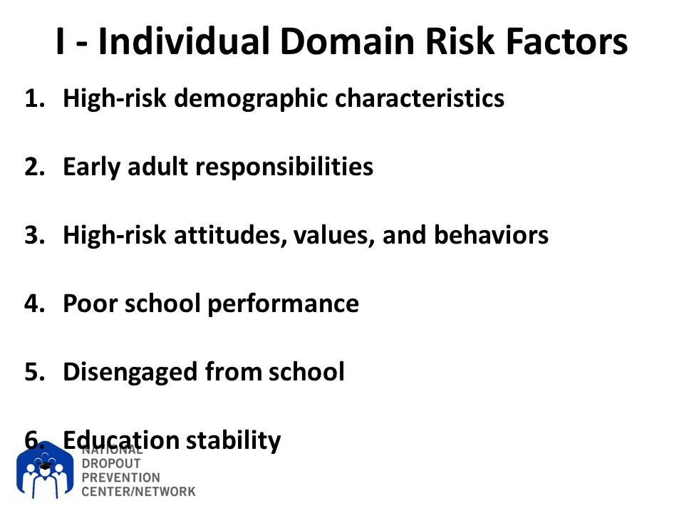 I - Individual Domain Risk Factors