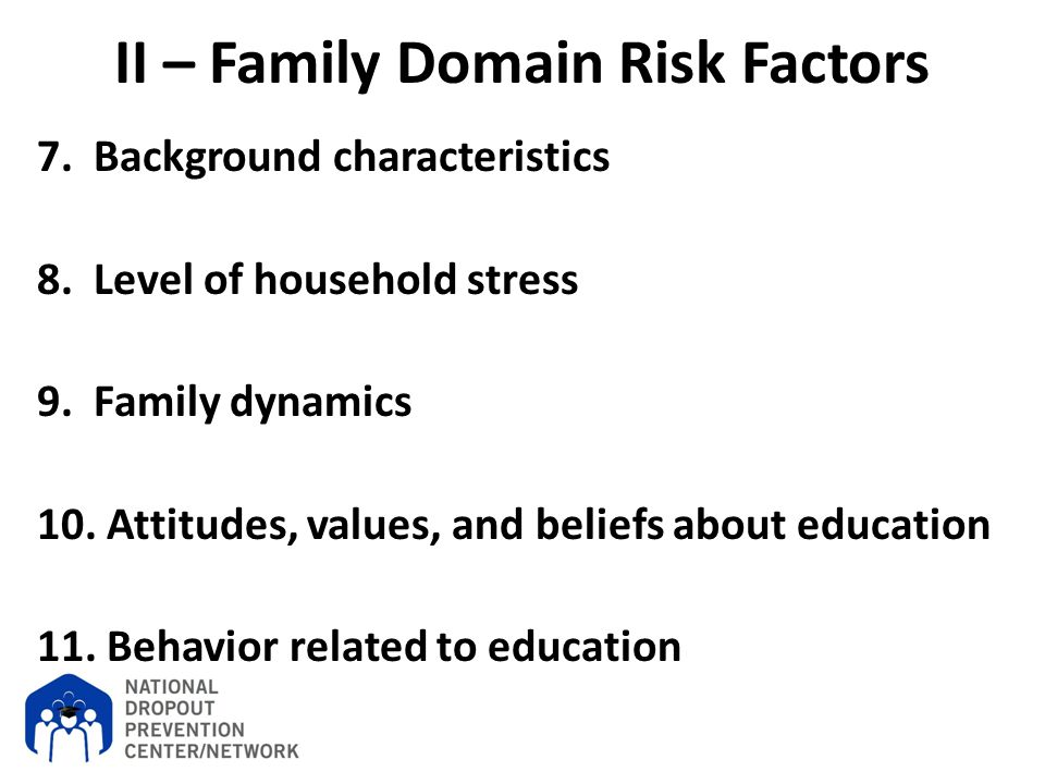 II – Family Domain Risk Factors