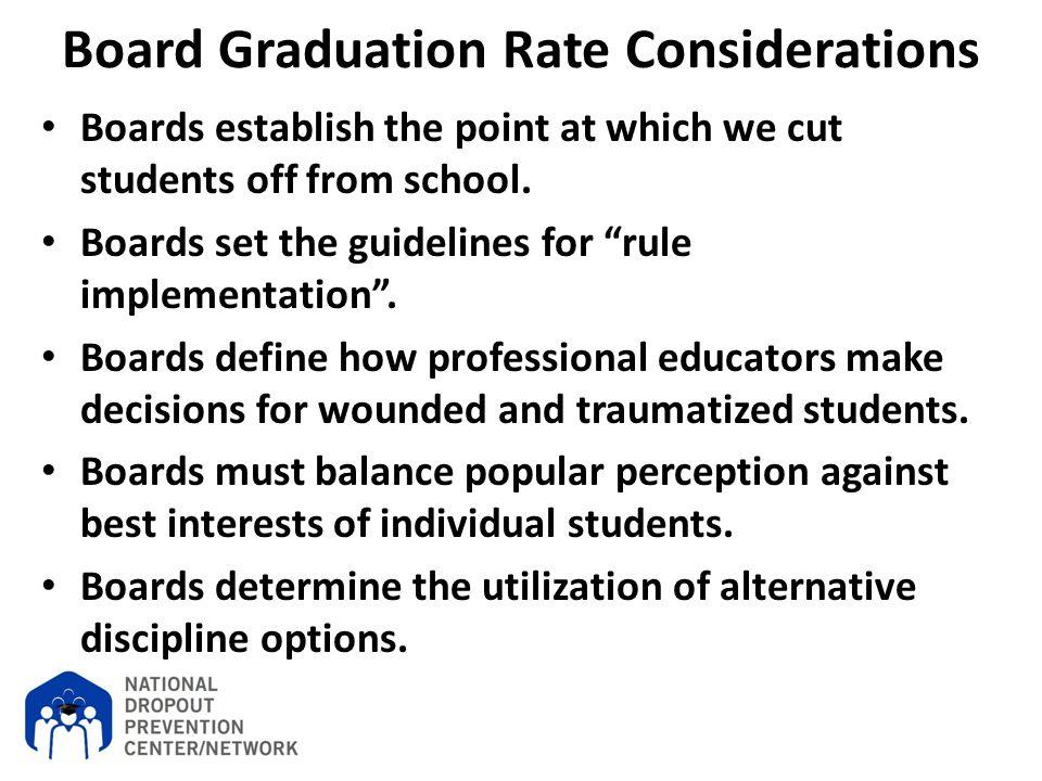 Board Graduation Rate Considerations