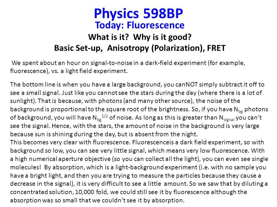 Basic Set-up, Anisotropy (Polarization), FRET
