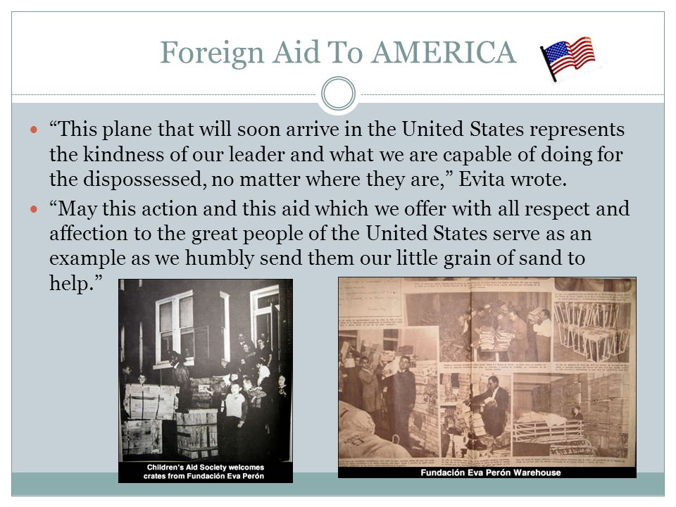 Foreign Aid To AMERICA