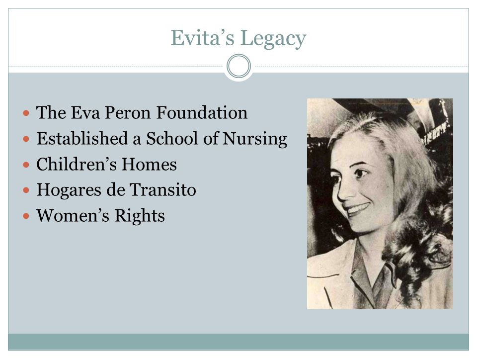 Evita's Legacy The Eva Peron Foundation