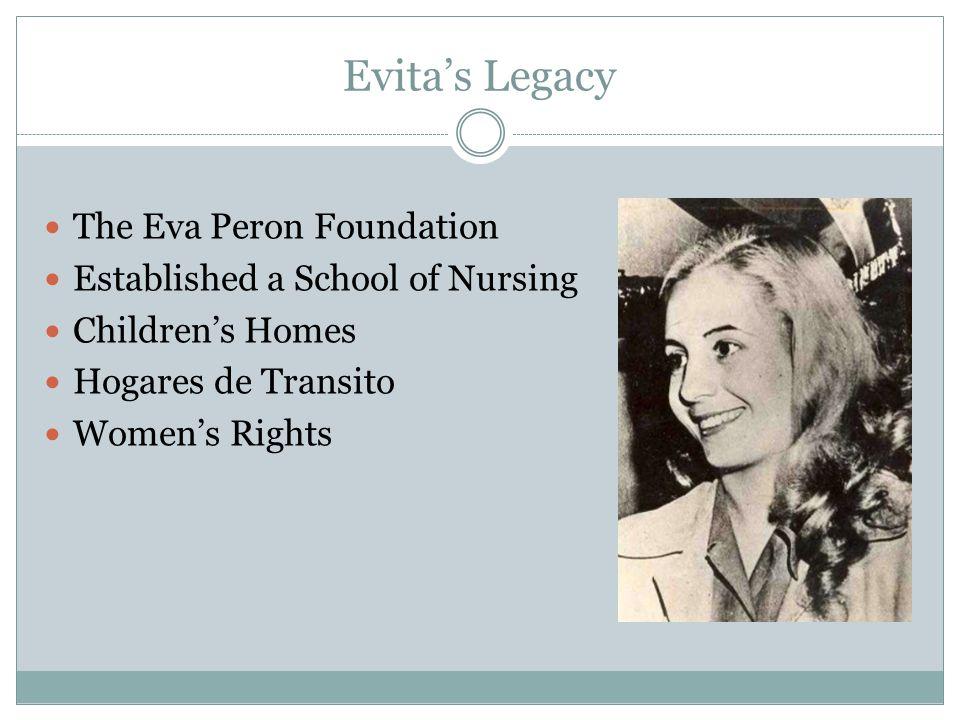 Evita's Legacy The Eva Peron Foundation