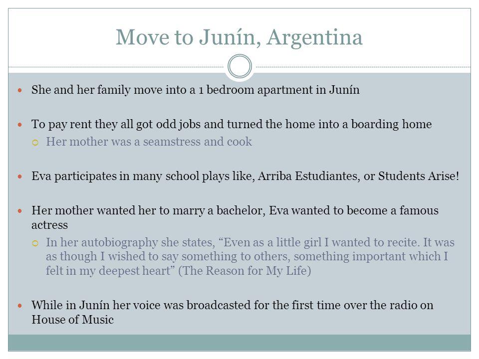 Move to Junín, Argentina