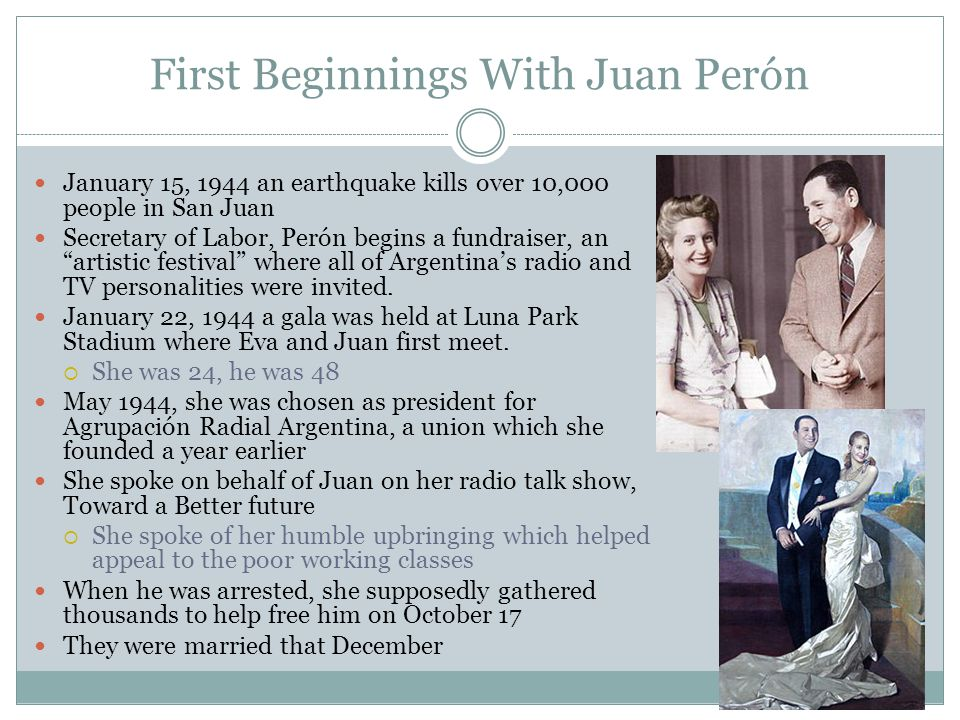 First Beginnings With Juan Perón