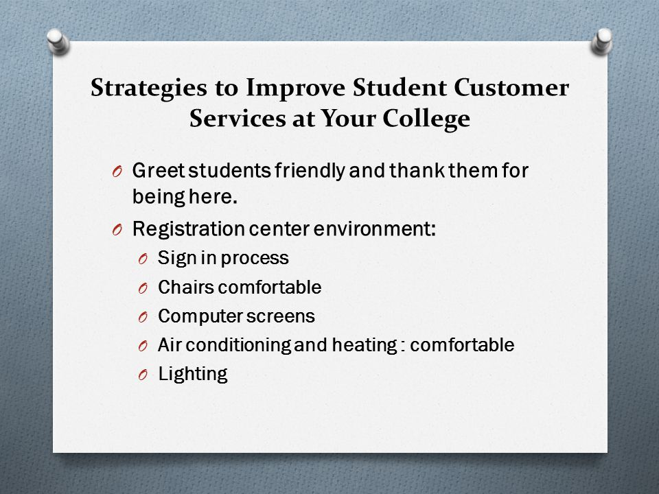 Strategies to Improve Student Customer Services at Your College
