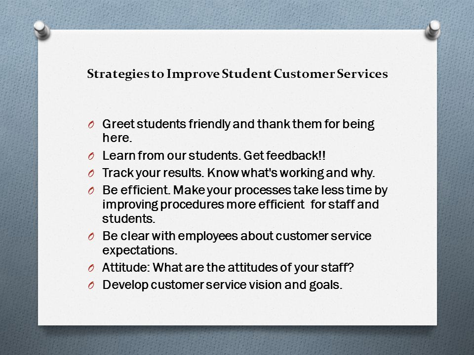 Strategies to Improve Student Customer Services