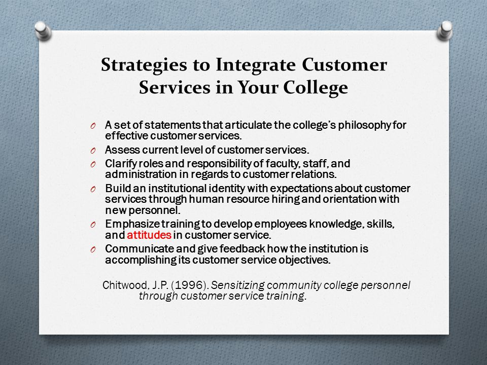 Strategies to Integrate Customer Services in Your College