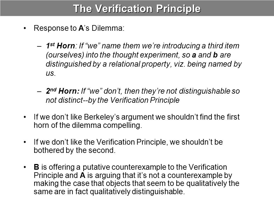 The Verification Principle