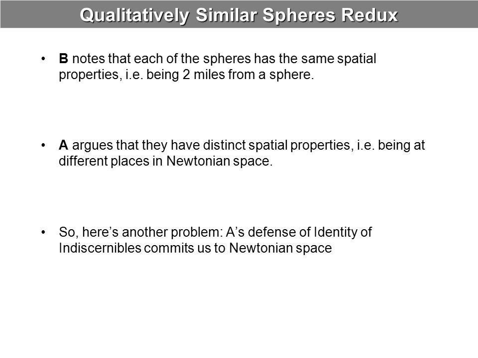 Qualitatively Similar Spheres Redux