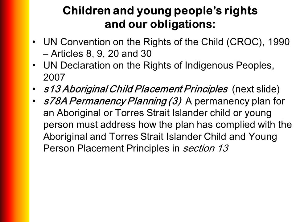 Children and young people's rights