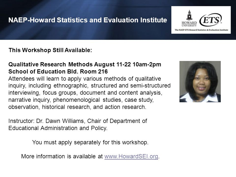 NAEP-Howard Statistics and Evaluation Institute