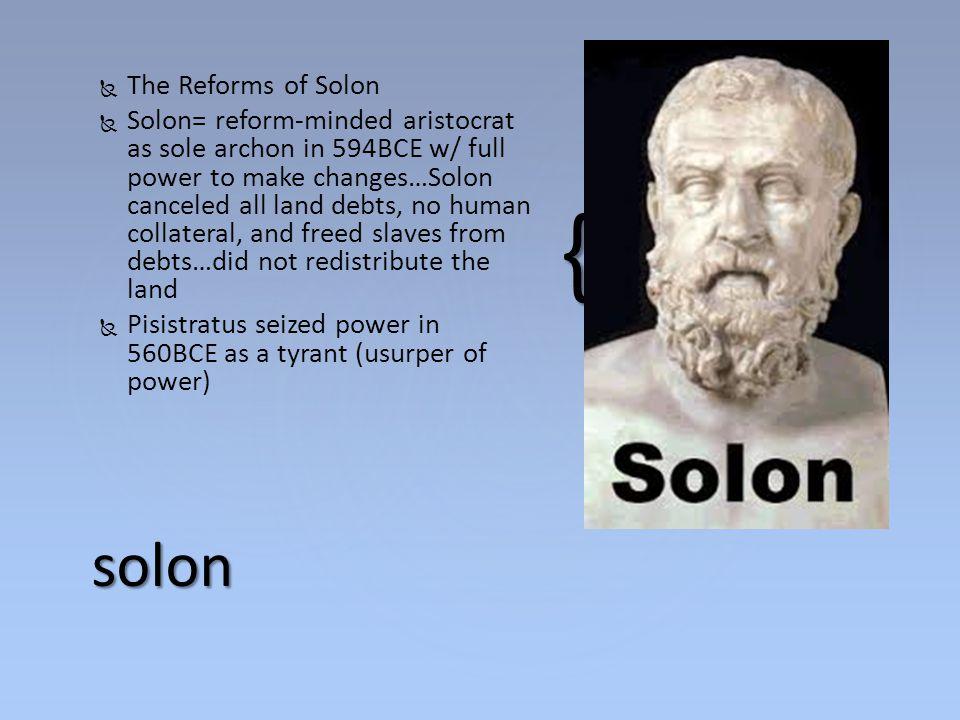 solon The Reforms of Solon
