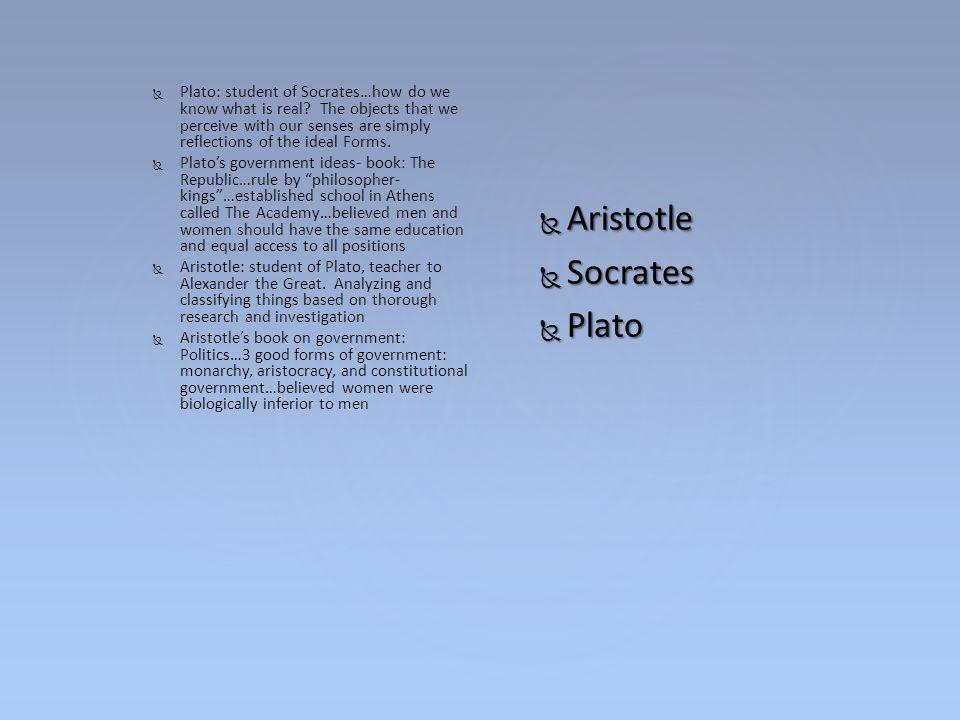Aristotle Socrates Plato