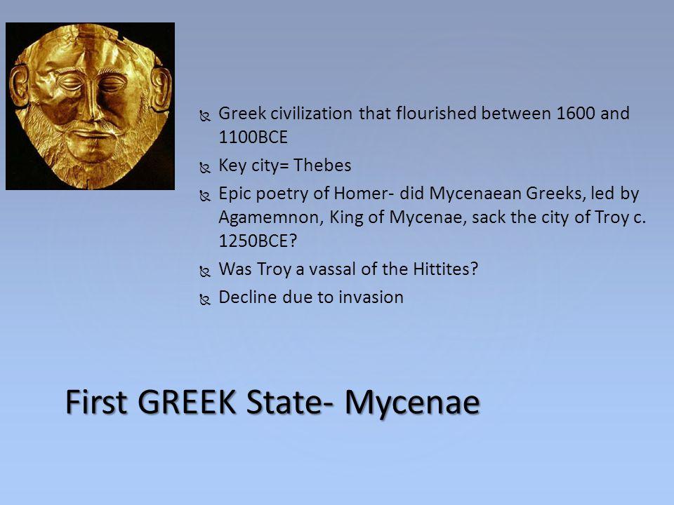 First GREEK State- Mycenae