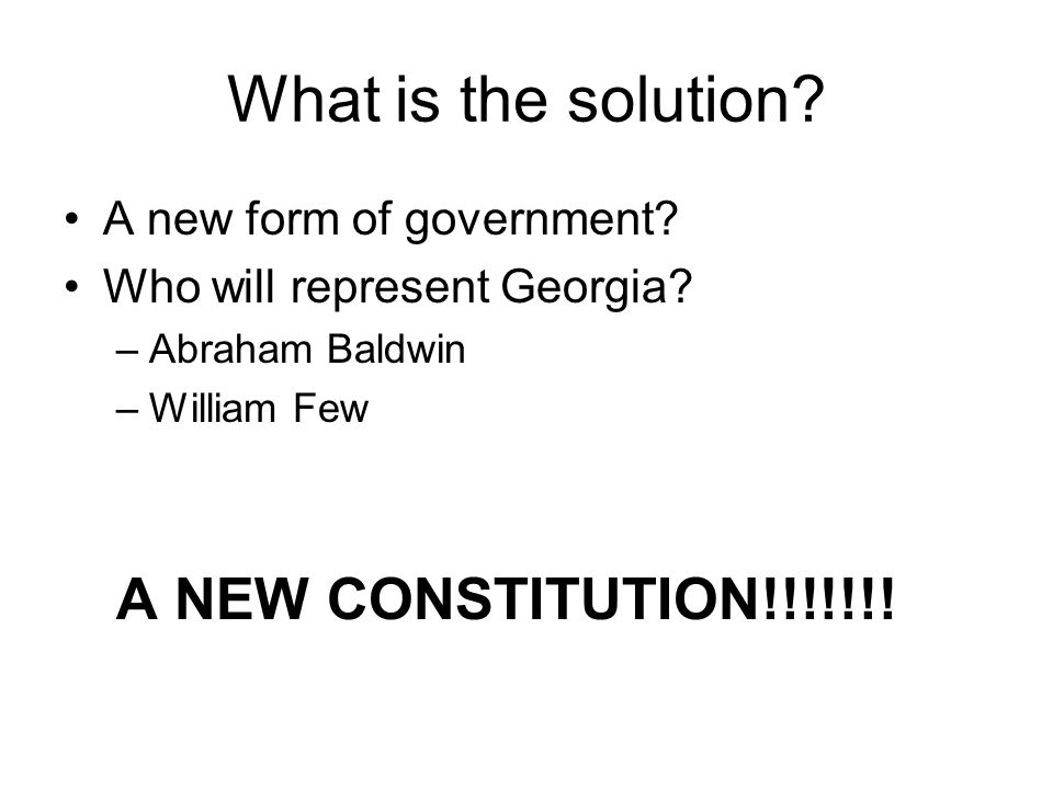 What is the solution A NEW CONSTITUTION!!!!!!!