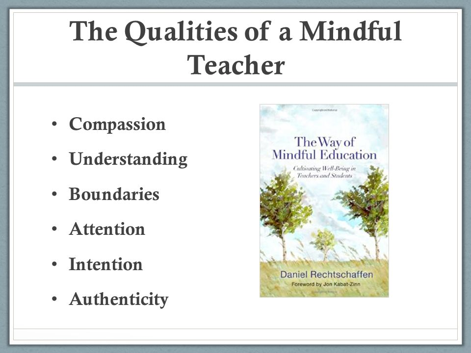 The Qualities of a Mindful Teacher