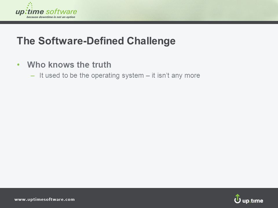 The Software-Defined Challenge