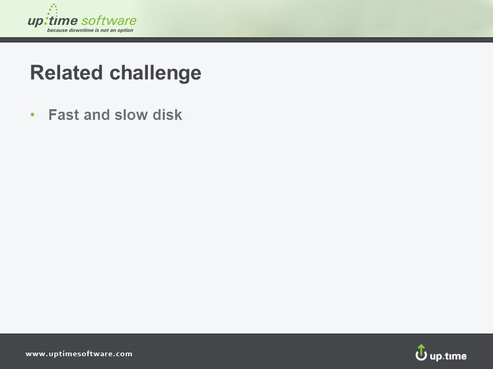 Related challenge Fast and slow disk