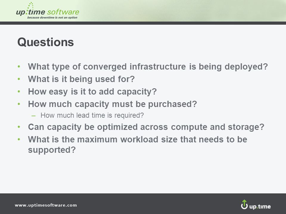 Questions What type of converged infrastructure is being deployed