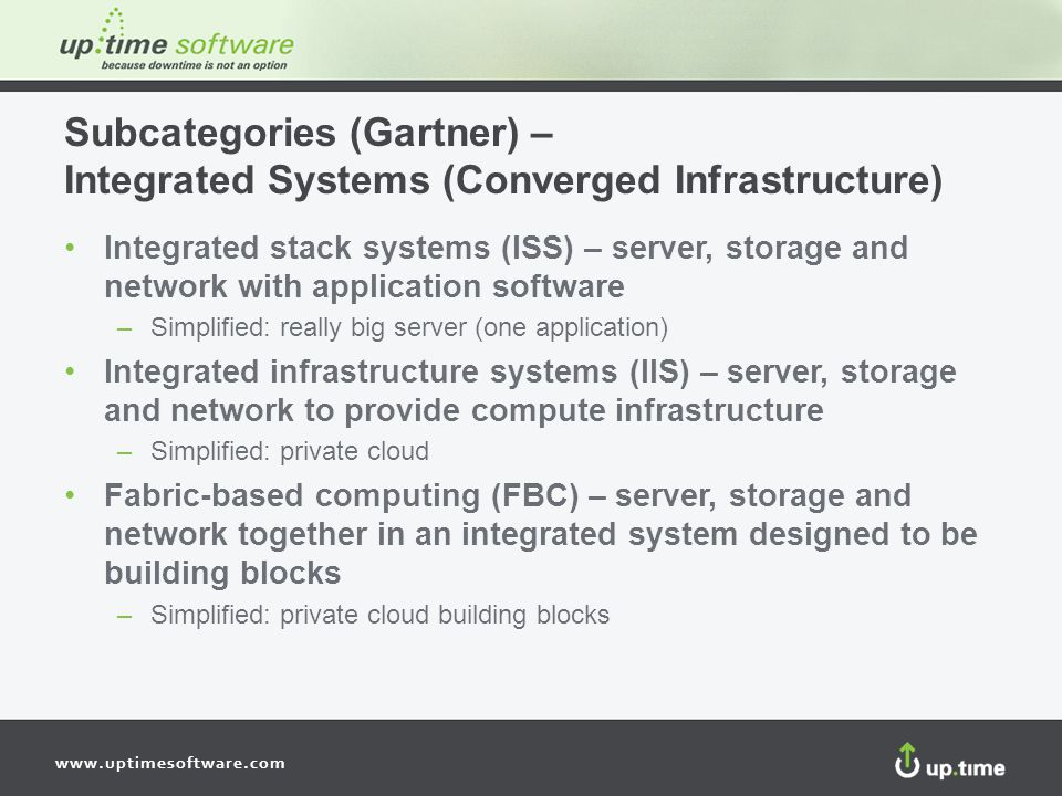 Subcategories (Gartner) – Integrated Systems (Converged Infrastructure)