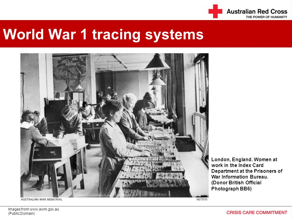 World War 1 tracing systems