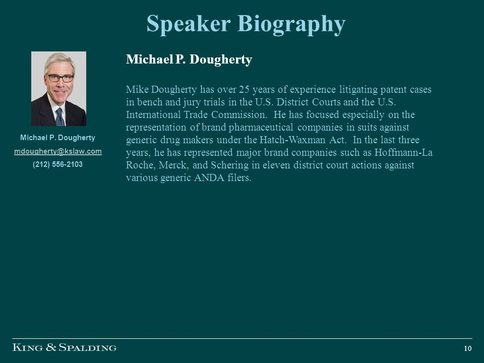 Speaker Biography Michael P. Dougherty