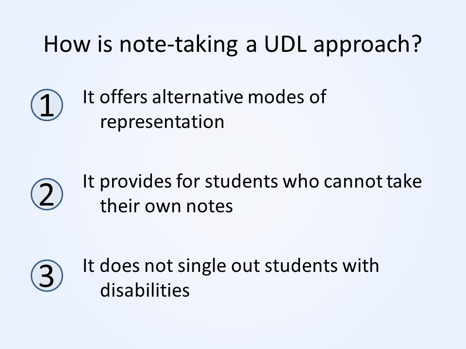 How is note-taking a UDL approach