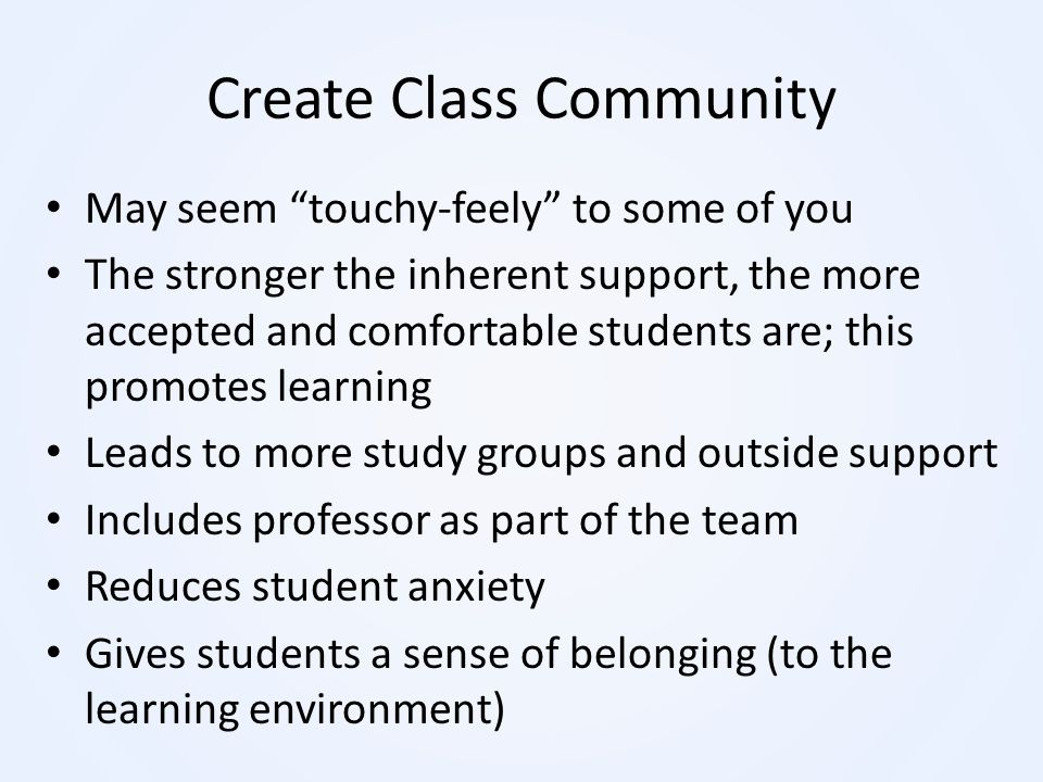 Create Class Community
