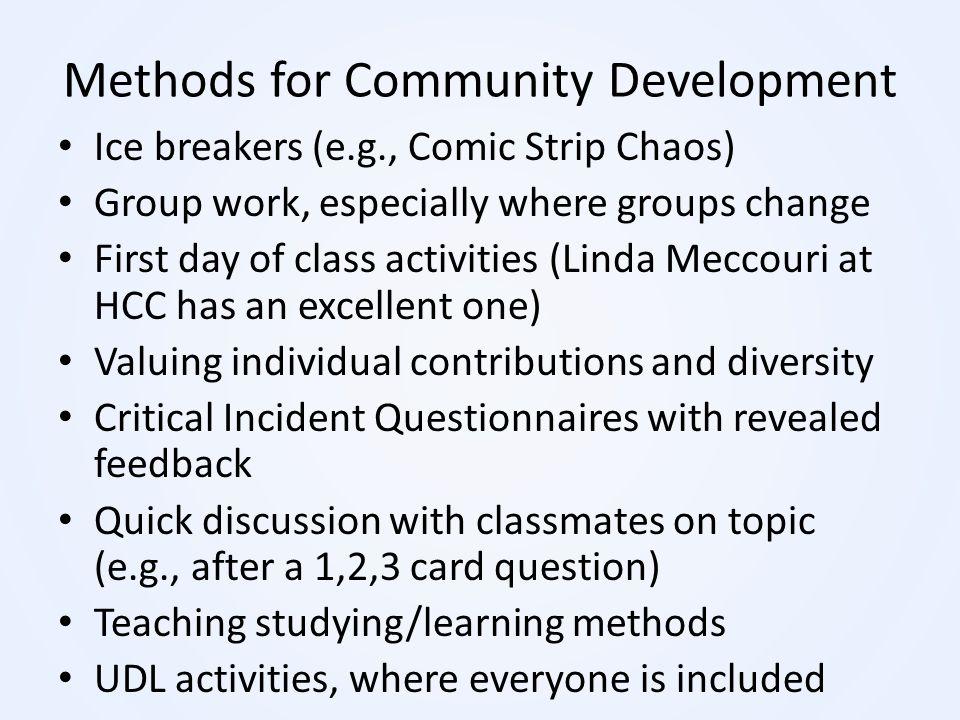 Methods for Community Development