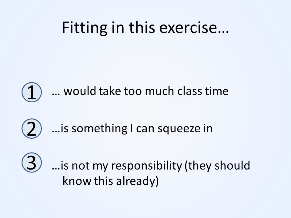 Fitting in this exercise…