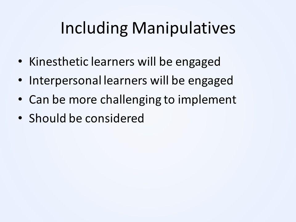 Including Manipulatives
