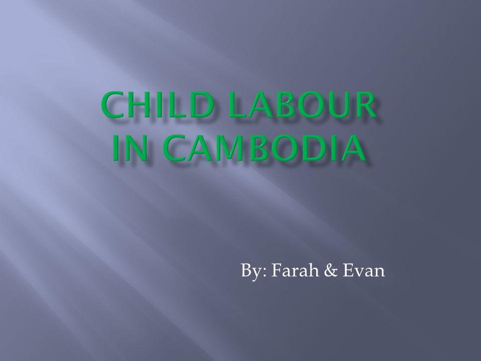 Child Labour In Cambodia
