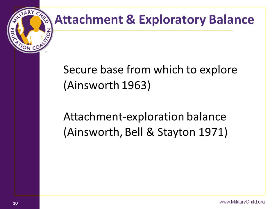 Attachment & Exploratory Balance