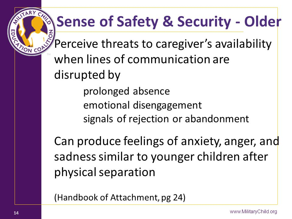 Sense of Safety & Security - Older