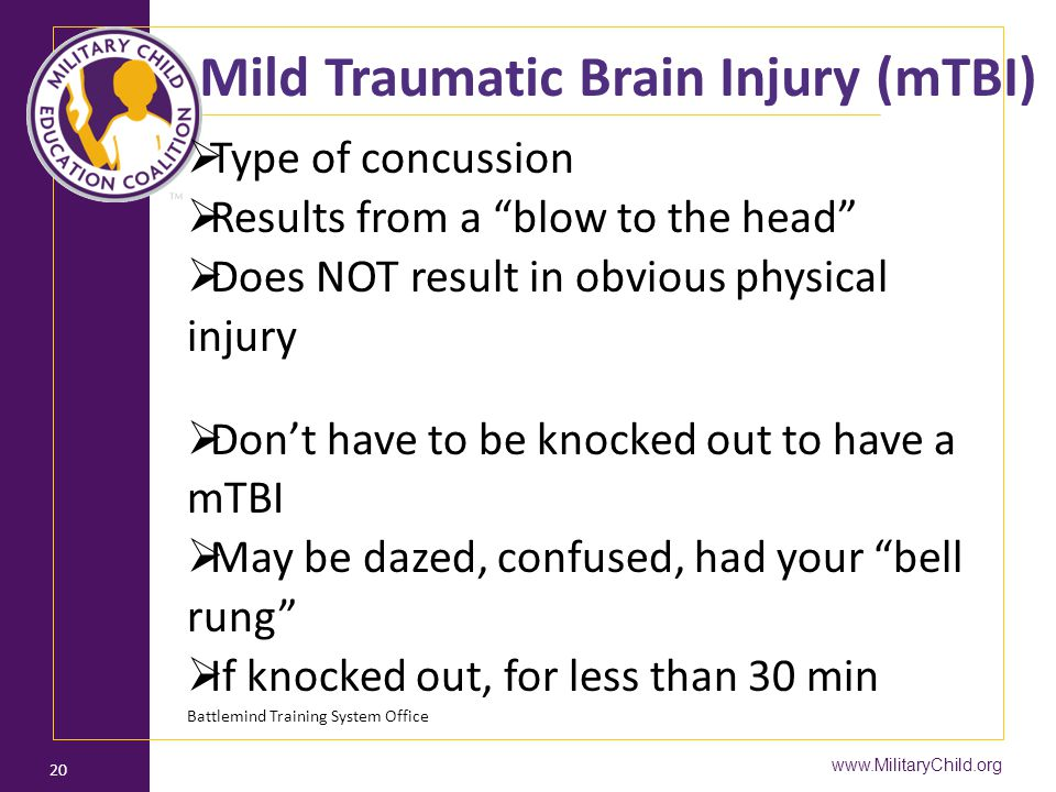 Mild Traumatic Brain Injury (mTBI)