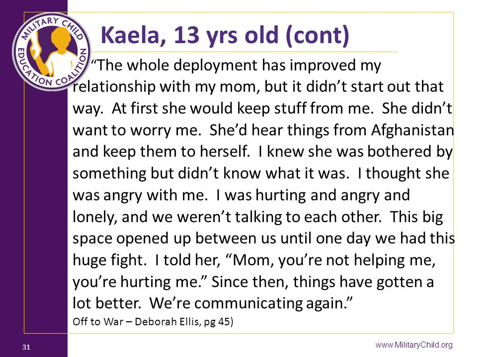 Kaela, 13 yrs old (cont)