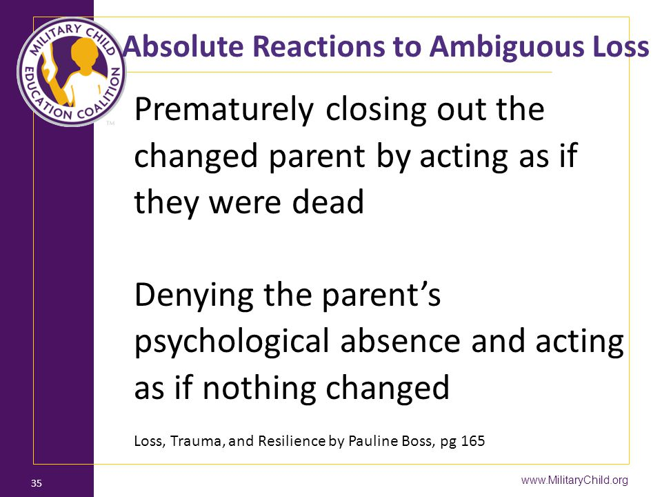 Absolute Reactions to Ambiguous Loss