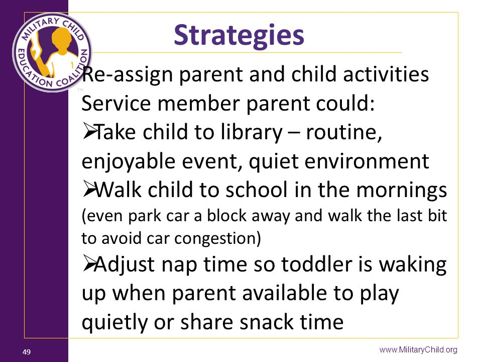 Strategies Re-assign parent and child activities