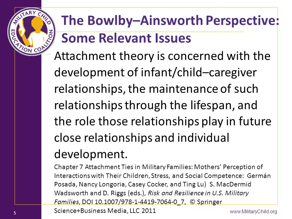 The Bowlby–Ainsworth Perspective: Some Relevant Issues