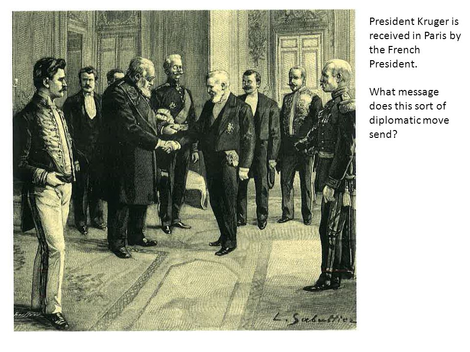 President Kruger is received in Paris by the French President.