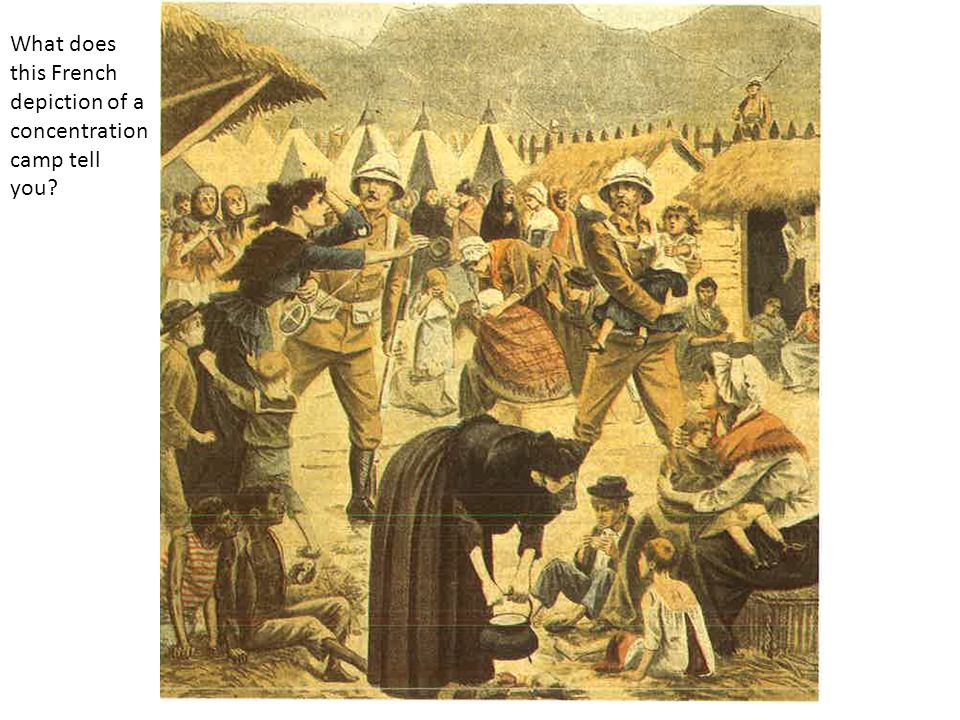 What does this French depiction of a concentration camp tell you