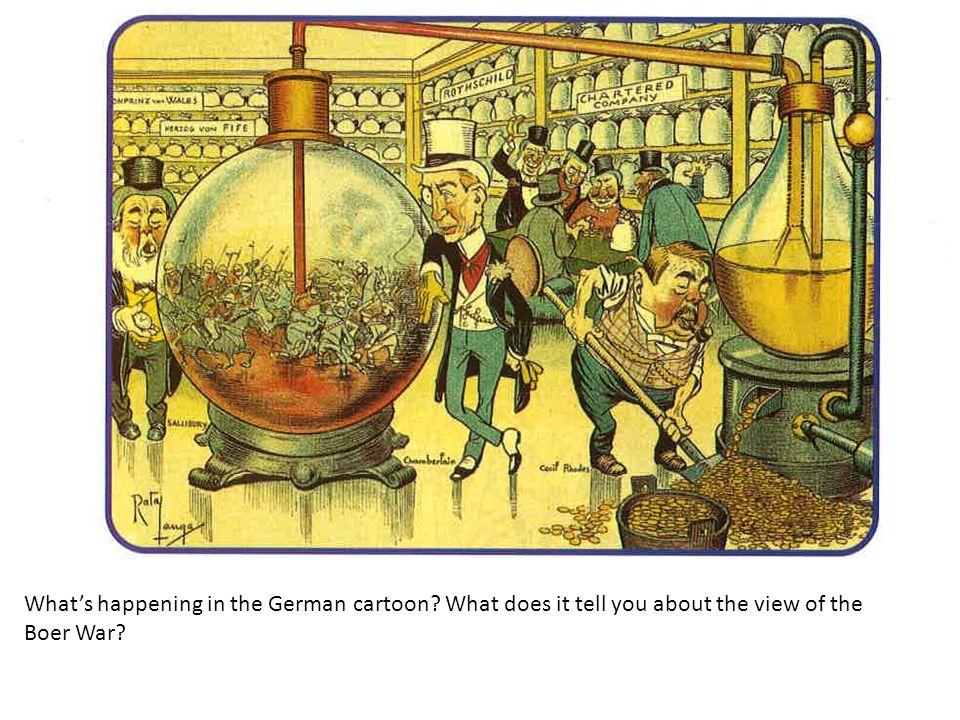 What's happening in the German cartoon