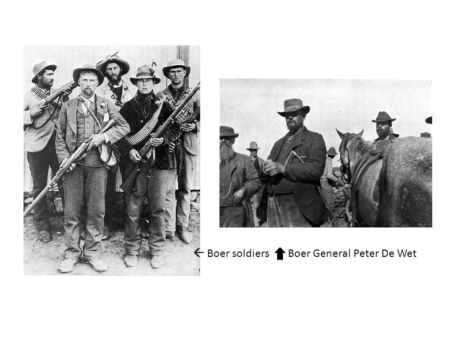  Boer soldiers Boer General Peter De Wet