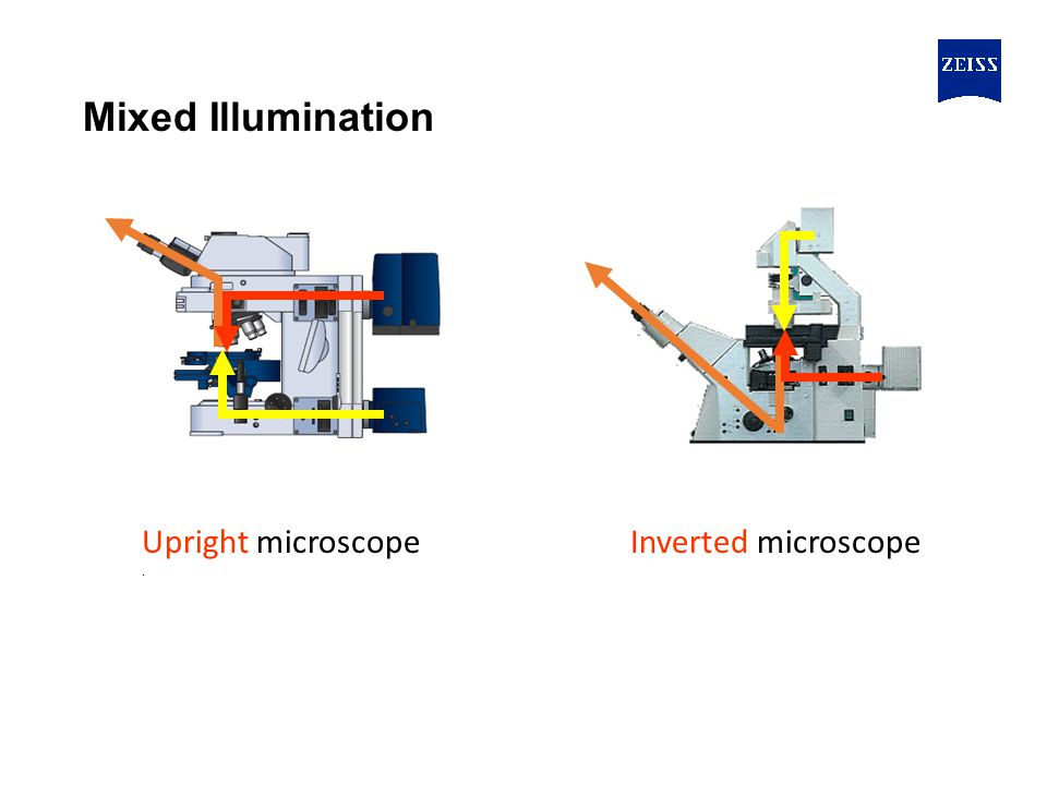 Mixed Illumination Upright microscope . Inverted microscope