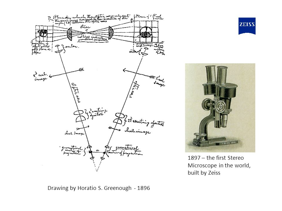 1897 – the first Stereo Microscope in the world, built by Zeiss