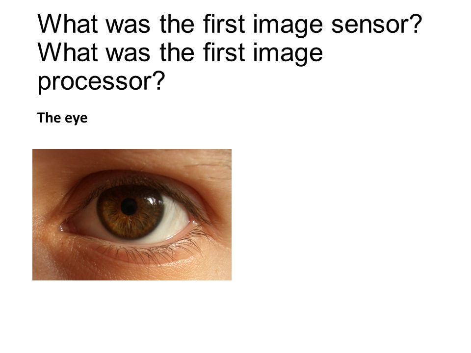 What was the first image sensor What was the first image processor