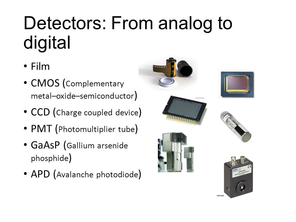 Detectors: From analog to digital