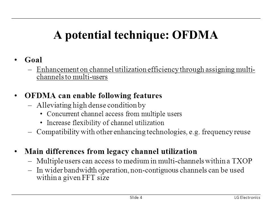 A potential technique: OFDMA