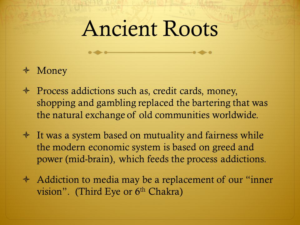 Ancient Roots Money.